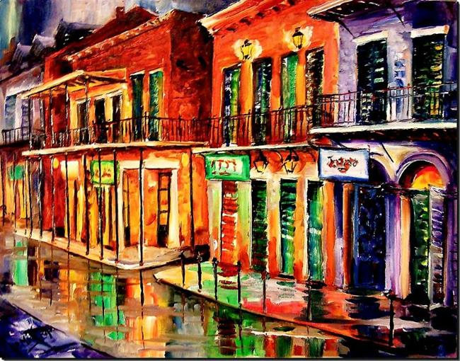 Art: Rue Bourbon - SOLD by Artist Diane Millsap