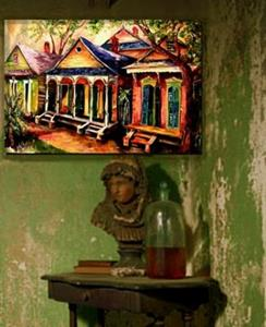 Detail Image for art New Orleans Shotguns - SOLD