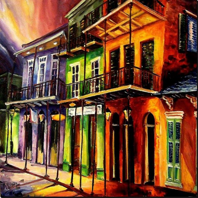 Art: Night in the Vieux Carre - SOLD by Artist Diane Millsap