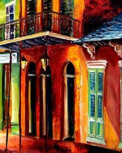 Detail Image for art Night in the Vieux Carre - SOLD