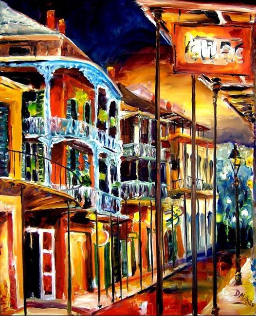Art: Evening on St. Peter Street - SOLD by Artist Diane Millsap