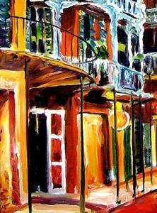 Detail Image for art Evening on St. Peter Street - SOLD