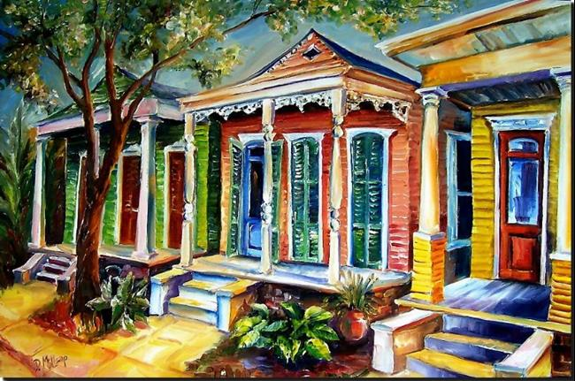 Art: New Orleans - Plain and Fancy - SOLD by Artist Diane Millsap