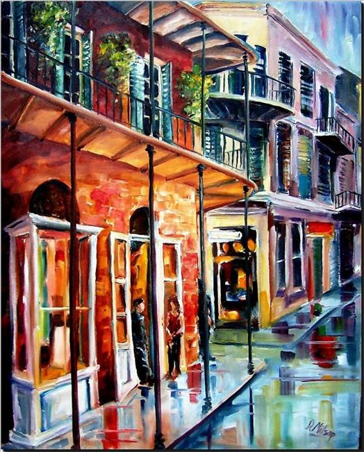 Art: New Orleans Rainy Day - SOLD by Artist Diane Millsap