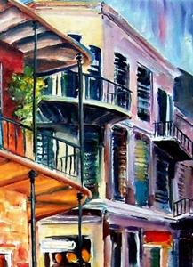 Detail Image for art New Orleans Rainy Day - SOLD