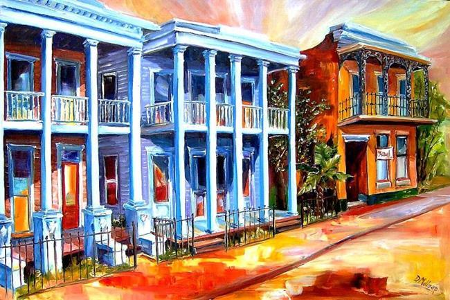 Art: Prytania Street in New Orleans - SOLD by Artist Diane Millsap
