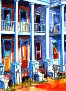 Detail Image for art Prytania Street in New Orleans - SOLD
