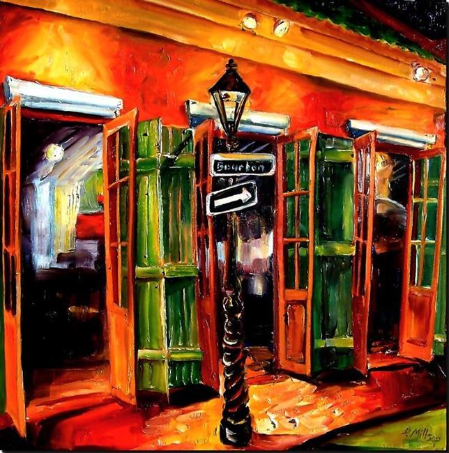 Art: Bar on Bourbon Street - SOLD by Artist Diane Millsap
