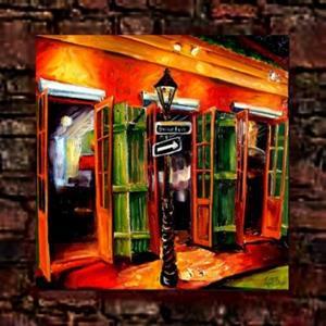 Detail Image for art Bar on Bourbon Street - SOLD