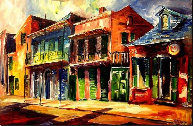Art: Sunny Side of the French Quarter - SOLD by Artist Diane Millsap