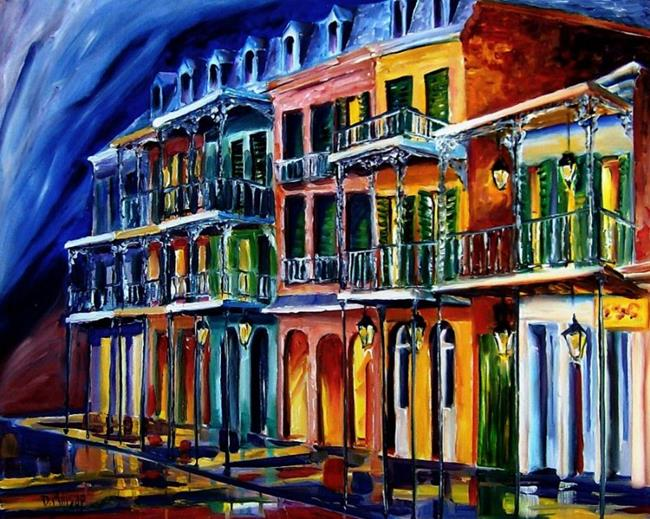 Art: French Quarter Glow - SOLD by Artist Diane Millsap