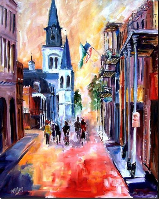 Art: Misty Morning on Chartres Street - SOLD by Artist Diane Millsap