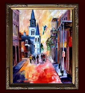 Detail Image for art Misty Morning on Chartres Street - SOLD