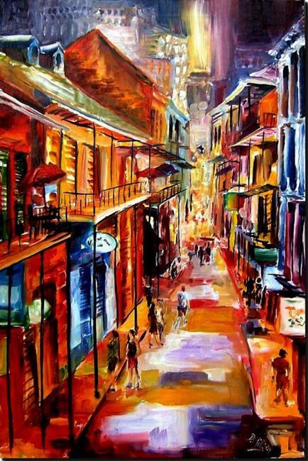 Art: Bourbon Street Glitter SOLD by Artist Diane Millsap