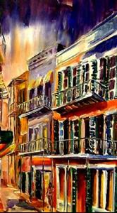 Detail Image for art Bourbon Street - A Day without Care - SOLD