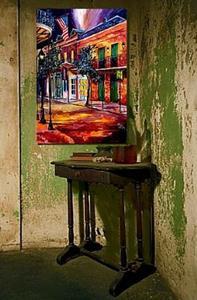 Detail Image for art French Quarter Lamplight - SOLD