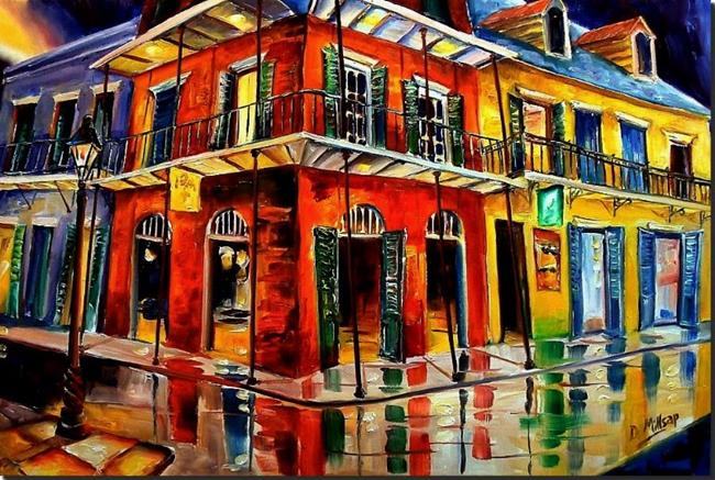 Art: Big Easy Swing - SOLD by Artist Diane Millsap