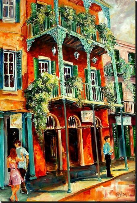 Art: French Quarter Spring - SOLD by Artist Diane Millsap