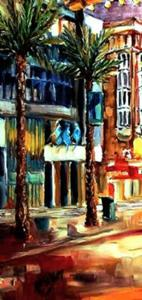 Detail Image for art Evening on Canal Street - SOLD