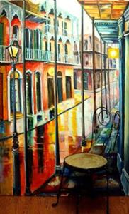Detail Image for art Rain on Royal Street - Large Format - SOLD