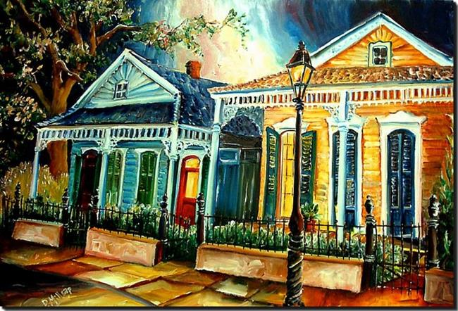 Art: Big Easy Neighborhood - SOLD by Artist Diane Millsap