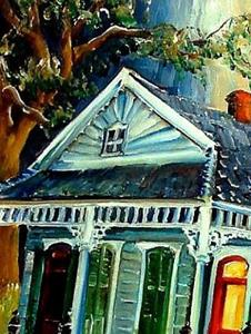 Detail Image for art Big Easy Neighborhood - SOLD
