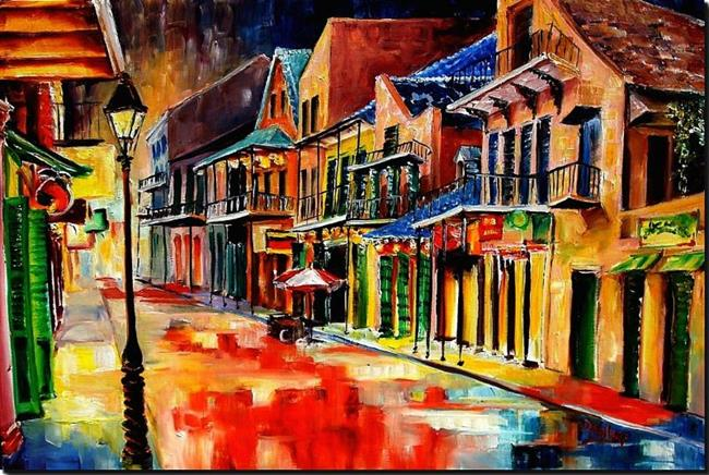 Art: St. Peter Street Jive - SOLD by Artist Diane Millsap