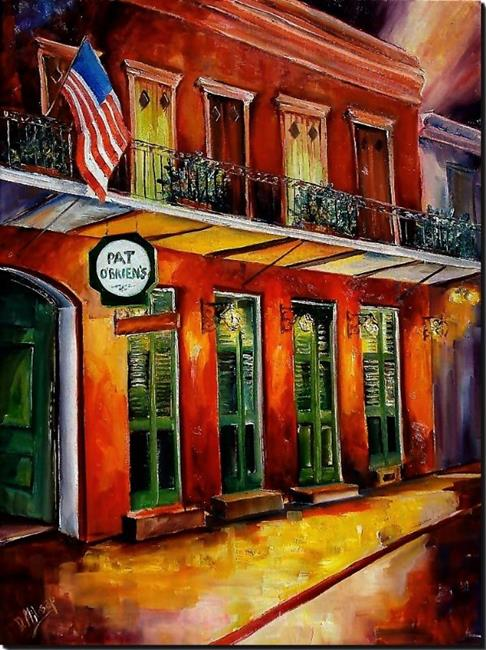 Art: Pat O'Brien's - New Orleans - SOLD by Artist Diane Millsap