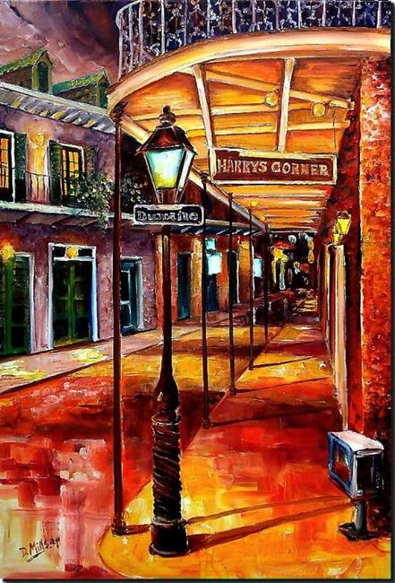 Art: Harry's Corner - SOLD by Artist Diane Millsap