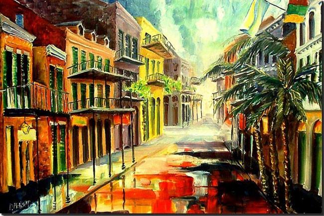 Art: New Orleans Summer Rain by Artist Diane Millsap