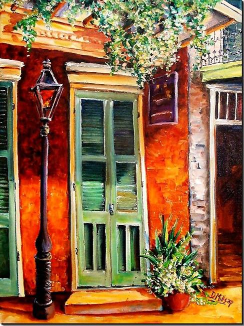 Art: Sunlit Vieux Carre' - SOLD by Artist Diane Millsap