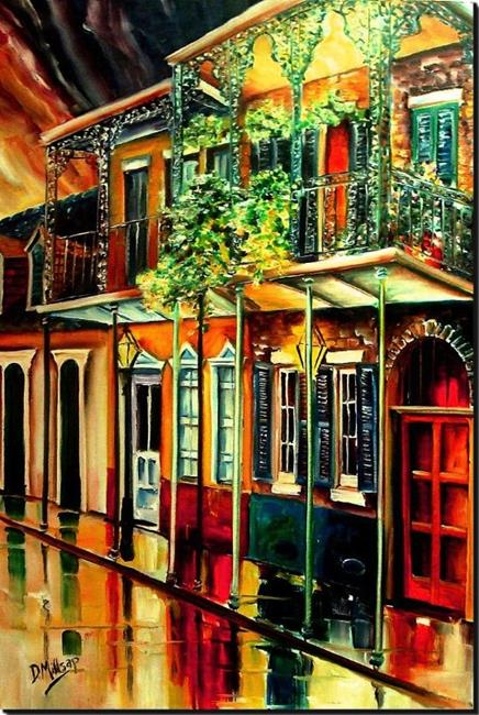 Art: Quiet Vieux Carre' - SOLD by Artist Diane Millsap