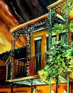 Detail Image for art Quiet Vieux Carre' - SOLD