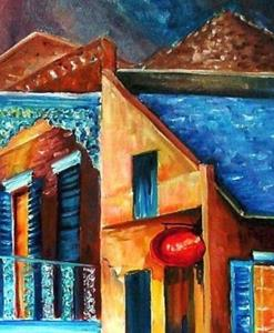 Detail Image for art The French Quarter Glow - SOLD