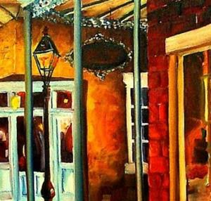 Detail Image for art Mysteries of the Vieux Carre' - SOLD