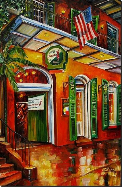 Art: Pat O'Brien's on Bourbon Street - SOLD by Artist Diane Millsap