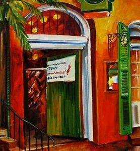 Detail Image for art Pat O'Brien's on Bourbon Street - SOLD