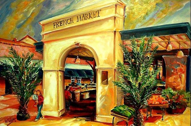 Art: French Market Sunshine - SOLD by Artist Diane Millsap
