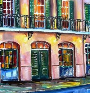 Detail Image for art Brennan's in New Orleans - SOLD