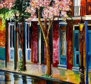 Detail Image for art The Glow on Chartres Street - SOLD