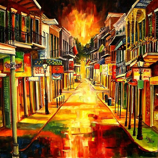 Art: Bourbon Street !! SOLD by Artist Diane Millsap