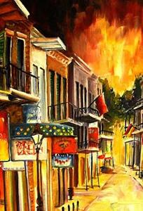 Detail Image for art Bourbon Street !! SOLD