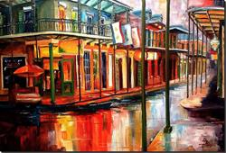 Art: Downpour on Bourbon Street - SOLD by Artist Diane Millsap