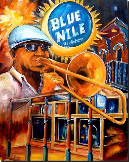 Art: Blue Nile - New Orleans - SOLD by Artist Diane Millsap