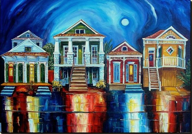 Art: Moon Over New Orleans by Artist Diane Millsap