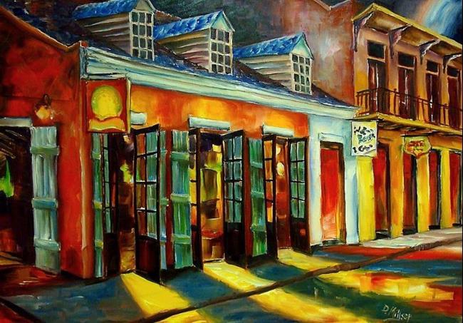 Art: Colors of Bourbon Street - SOLD by Artist Diane Millsap