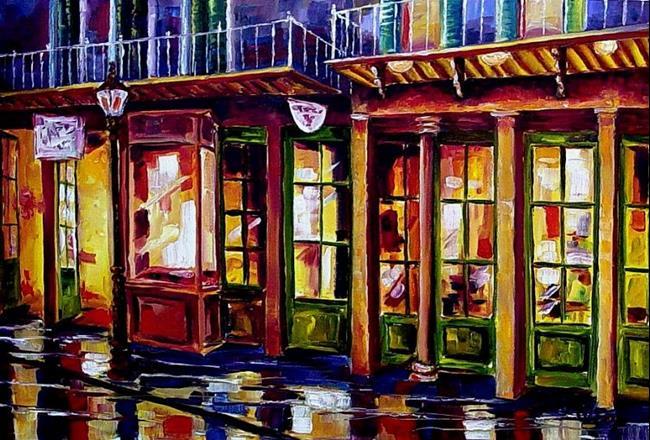 Art: Rainy Night on Bourbon Street -SOLD by Artist Diane Millsap