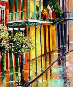 Detail Image for art Reflections on St. Phillip Street - SOLD