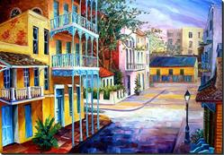 Art: French Quarter Sunrise - SOLD by Artist Diane Millsap