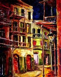 Art: French quarter Side Street - SOLD by Artist Diane Millsap